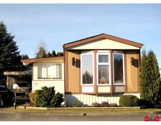 Main Photo: 33 1884 MCCALLUM Road in Abbotsford: Abbotsford East Manufactured Home for sale : MLS®# F2901697
