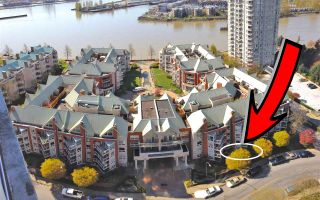 """Photo 1: 102 1240 QUAYSIDE Drive in New Westminster: Quay Condo for sale in """"TIFFANY SHORES"""" : MLS®# R2263673"""