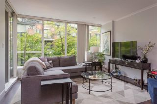 "Photo 1: 113 1483 W 7TH Avenue in Vancouver: Fairview VW Condo for sale in ""Verona of Portico"" (Vancouver West)  : MLS®# R2458283"