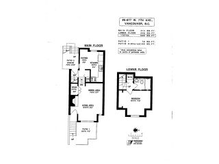 """Photo 13: # 6 877 W 7TH AV in Vancouver: Fairview VW Townhouse for sale in """"EMERALD COURT"""" (Vancouver West)  : MLS®# V1028020"""