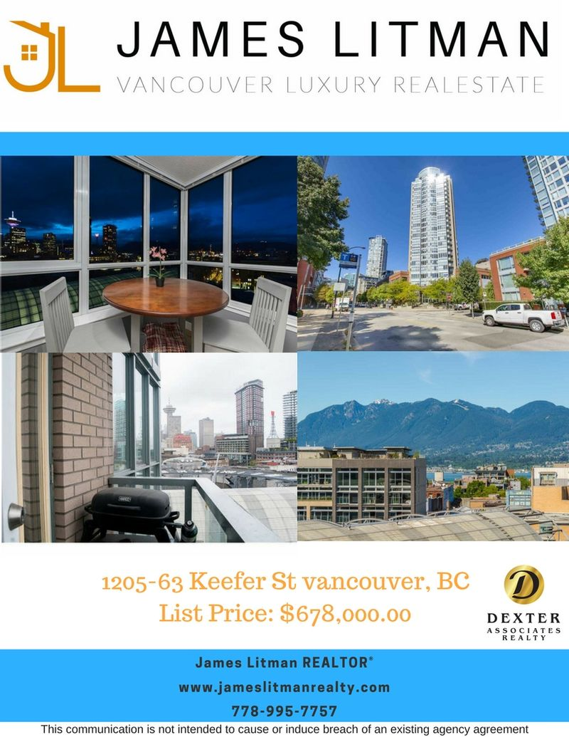 FEATURED LISTING: 1205 - 63 Keefer Street Vancouver