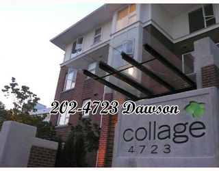 """Photo 1: 202 4723 DAWSON Street in Burnaby: Parkcrest Condo for sale in """"COLLAGE"""" (Burnaby North)  : MLS®# V659344"""