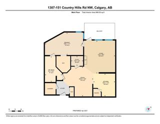 Photo 2: 1307 151 Country Village Road NE in Calgary: Country Hills Village Apartment for sale : MLS®# A1089499