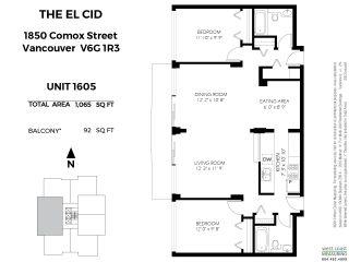 "Photo 20: 1604 1850 COMOX Street in Vancouver: West End VW Condo for sale in ""El Cid"" (Vancouver West)  : MLS®# R2421108"