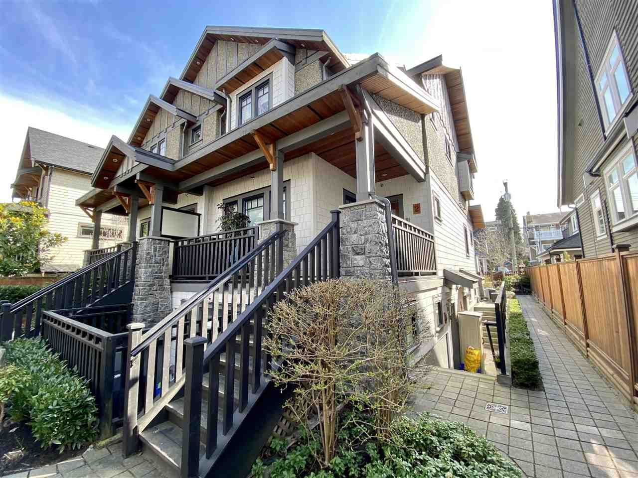 Main Photo: 4 138 W 13TH AVENUE in Vancouver: Mount Pleasant VW Townhouse for sale (Vancouver West)  : MLS®# R2547641