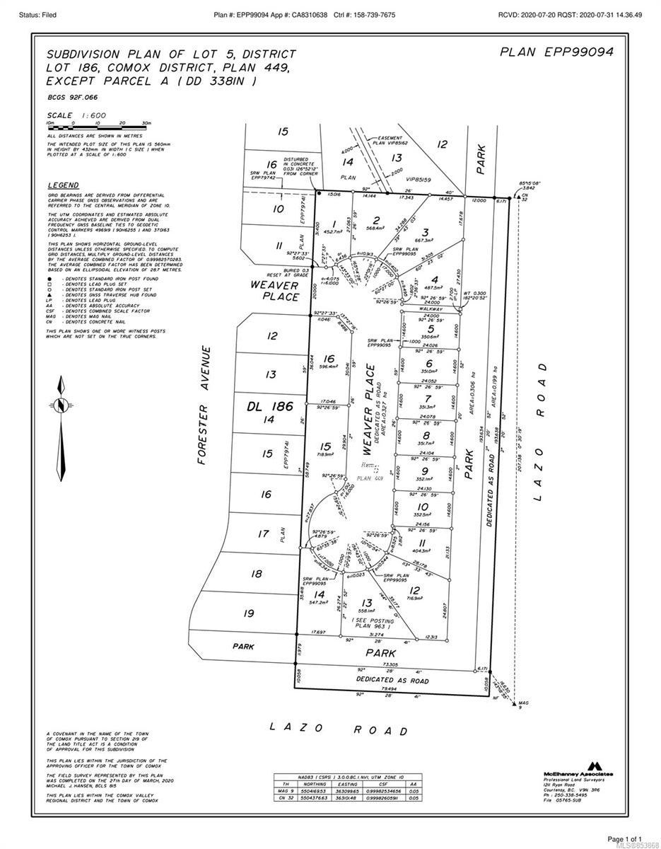 Main Photo: 2 1170 Lazo Rd in : CV Comox (Town of) Land for sale (Comox Valley)  : MLS®# 853868
