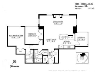 """Photo 20: 601 1003 PACIFIC Street in Vancouver: West End VW Condo for sale in """"Seastar"""" (Vancouver West)  : MLS®# R2008966"""