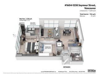 """Photo 19: 1604 1238 SEYMOUR Street in Vancouver: Downtown VW Condo for sale in """"The Space"""" (Vancouver West)  : MLS®# R2581460"""