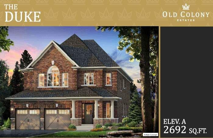 Main Photo: Lot 107 Old Colony Drive in Whitby: Pringle Creek House (2-Storey) for sale : MLS®# E5380766