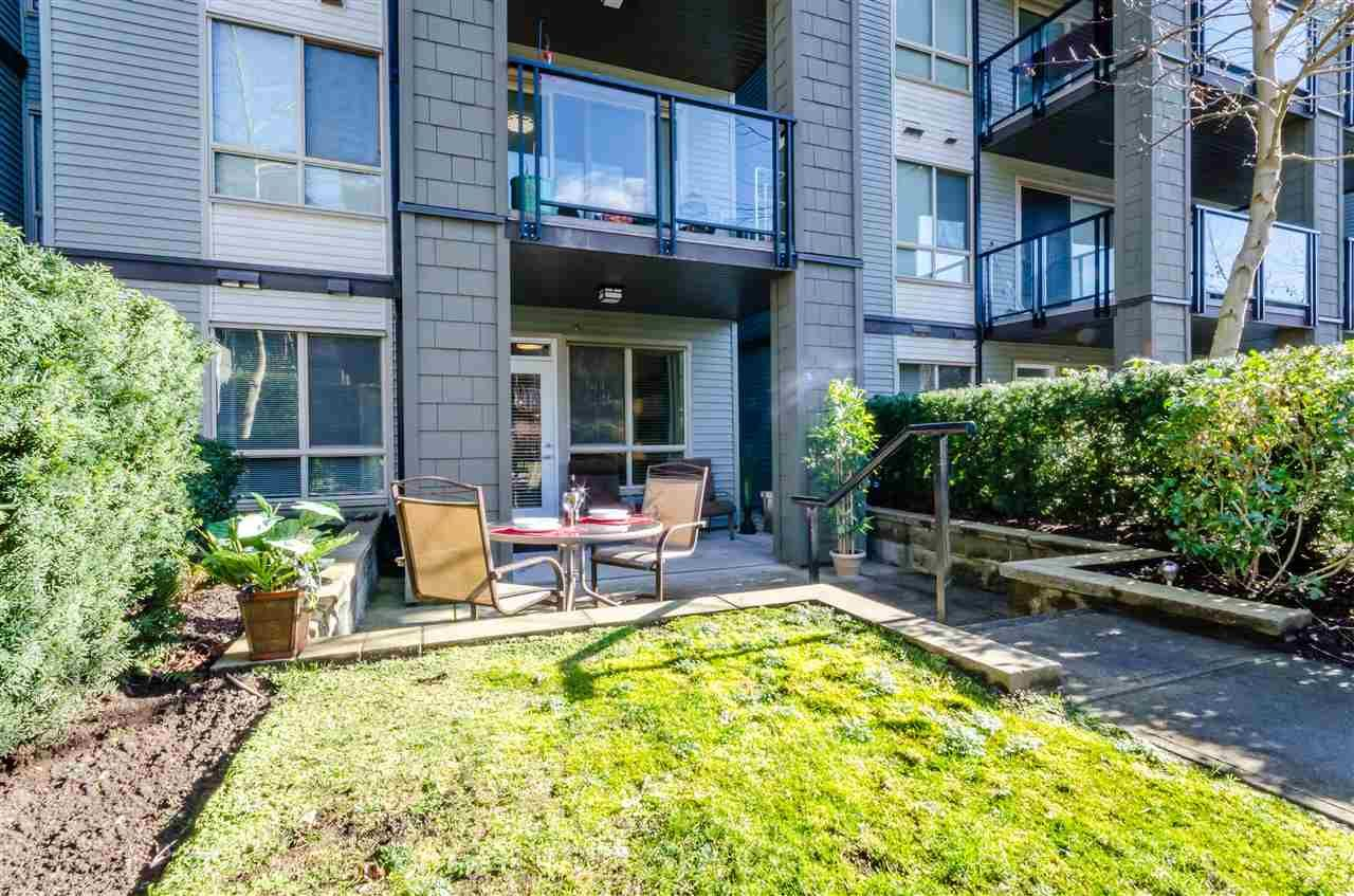 """Main Photo: 110 7478 BYRNEPARK Walk in Burnaby: South Slope Condo for sale in """"GREEN"""" (Burnaby South)  : MLS®# R2150163"""