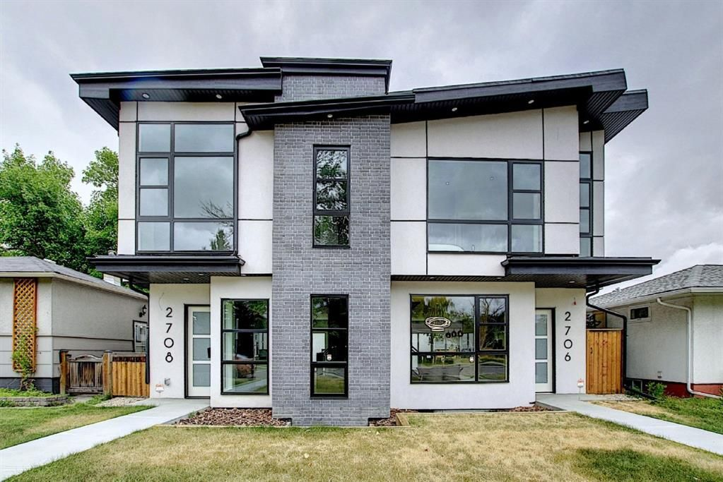 Main Photo: 2706 5 Avenue NW in Calgary: West Hillhurst Semi Detached for sale : MLS®# A1074061