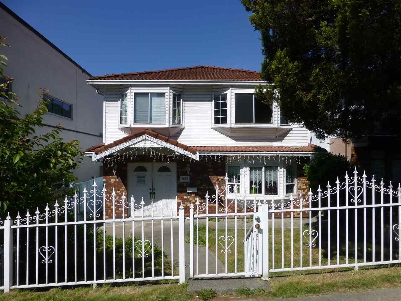 Main Photo: 2655 RENFREW STREET in Vancouver: Renfrew VE House for sale (Vancouver East)  : MLS®# R2067647