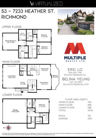 """Photo 38: 53 7233 HEATHER Street in Richmond: McLennan North Townhouse for sale in """"Wellington Court"""" : MLS®# R2569534"""