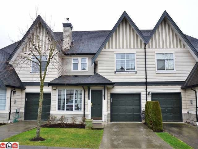 """Main Photo: 20 18883 65TH Avenue in Surrey: Cloverdale BC Townhouse for sale in """"APPLEWOOD"""" (Cloverdale)  : MLS®# F1206291"""