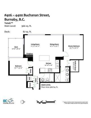 "Photo 11: 406 4400 BUCHANAN Street in Burnaby: Brentwood Park Condo for sale in ""MOTIF"" (Burnaby North)  : MLS®# R2219901"