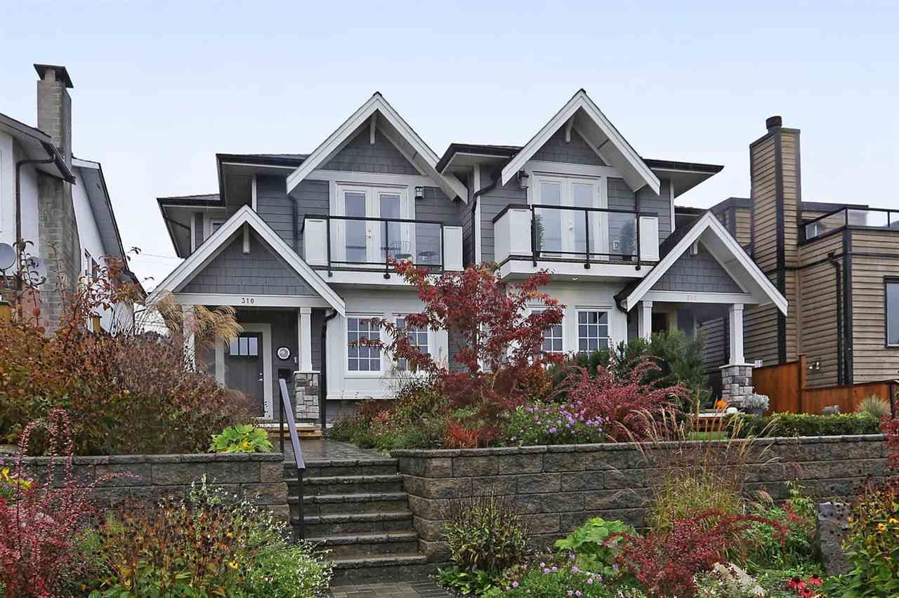 Main Photo: 310 E 5TH Street in North Vancouver: Lower Lonsdale 1/2 Duplex for sale : MLS®# R2330089