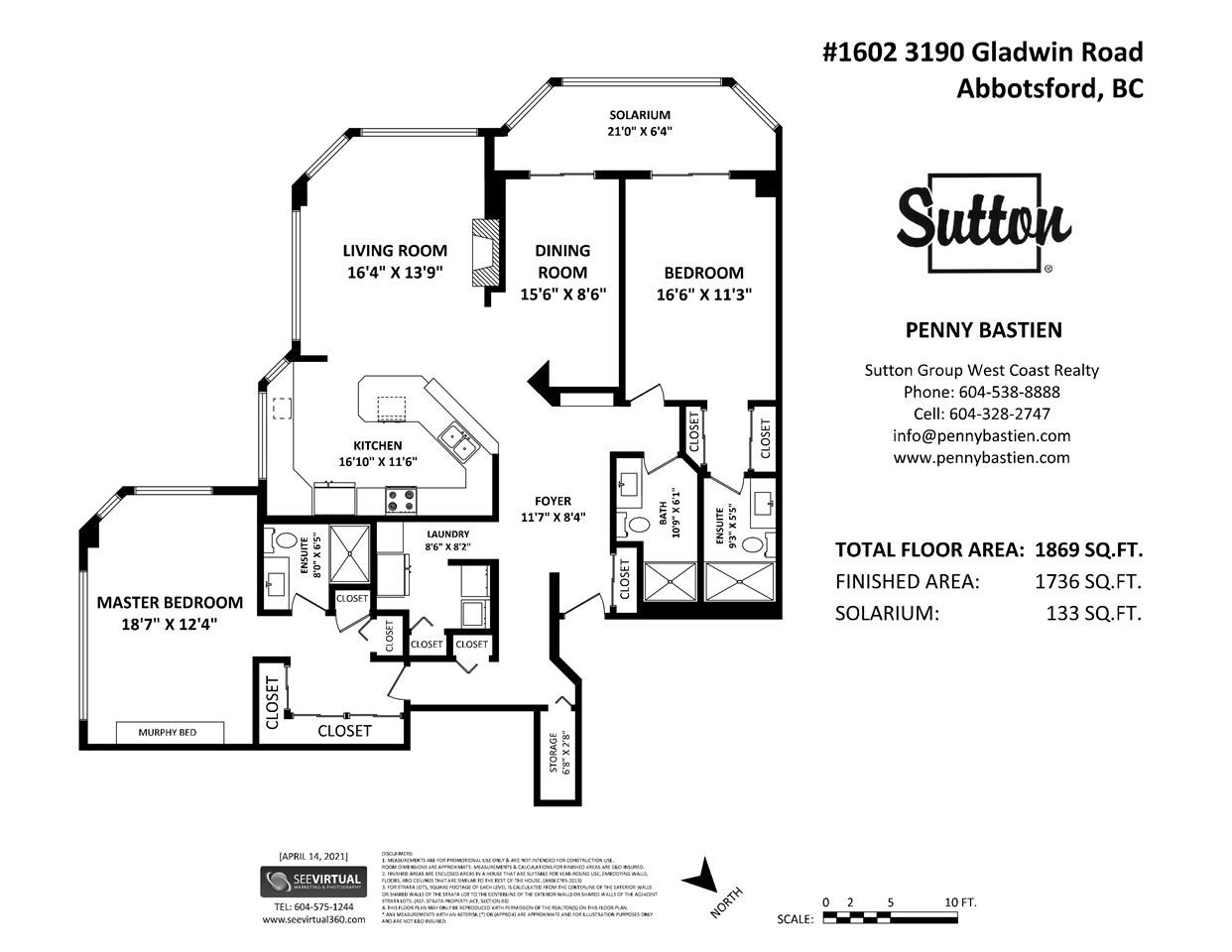 """Photo 2: Photos: 1602 3190 GLADWIN Road in Abbotsford: Central Abbotsford Condo for sale in """"REGENCY PARK"""" : MLS®# R2562391"""