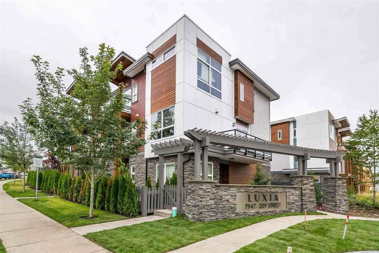 "Main Photo: 64 7947 209 Street in Langley: Willoughby Heights Townhouse for sale in ""Luxia"" : MLS®# R2493695"