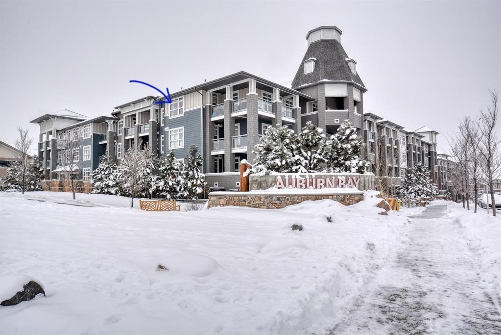 Main Photo: 409 25 Auburn Meadows Avenue SE in Calgary: Auburn Bay Apartment for sale : MLS®# A1067118