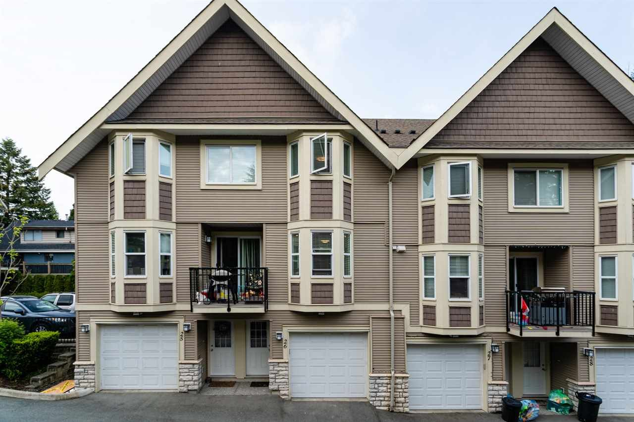 "Main Photo: 26 33313 GEORGE FERGUSON Way in Abbotsford: Central Abbotsford Townhouse for sale in ""Cedar Lane"" : MLS®# R2462809"
