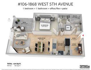 """Photo 21: 106 1868 W 5TH Avenue in Vancouver: Kitsilano Condo for sale in """"GREENWICH"""" (Vancouver West)  : MLS®# R2476894"""