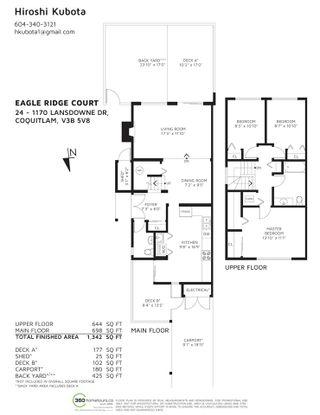 "Photo 25: 24 1170 LANSDOWNE Drive in Coquitlam: Eagle Ridge CQ Townhouse for sale in ""EAGLE RIDGE COURT"" : MLS®# R2589547"