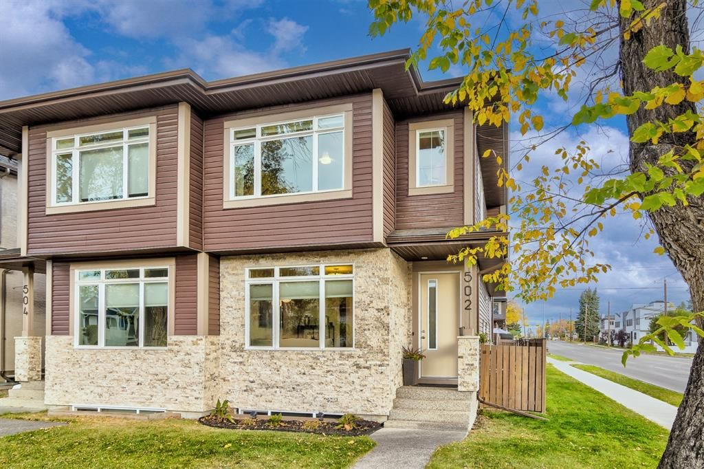 Main Photo: 502 18 Avenue NW in Calgary: Mount Pleasant Semi Detached for sale : MLS®# A1151227