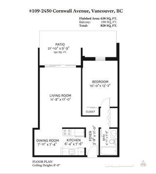 "Photo 20: 109 2450 CORNWALL Avenue in Vancouver: Kitsilano Condo for sale in ""The Ocean's Door"" (Vancouver West)  : MLS®# R2367921"