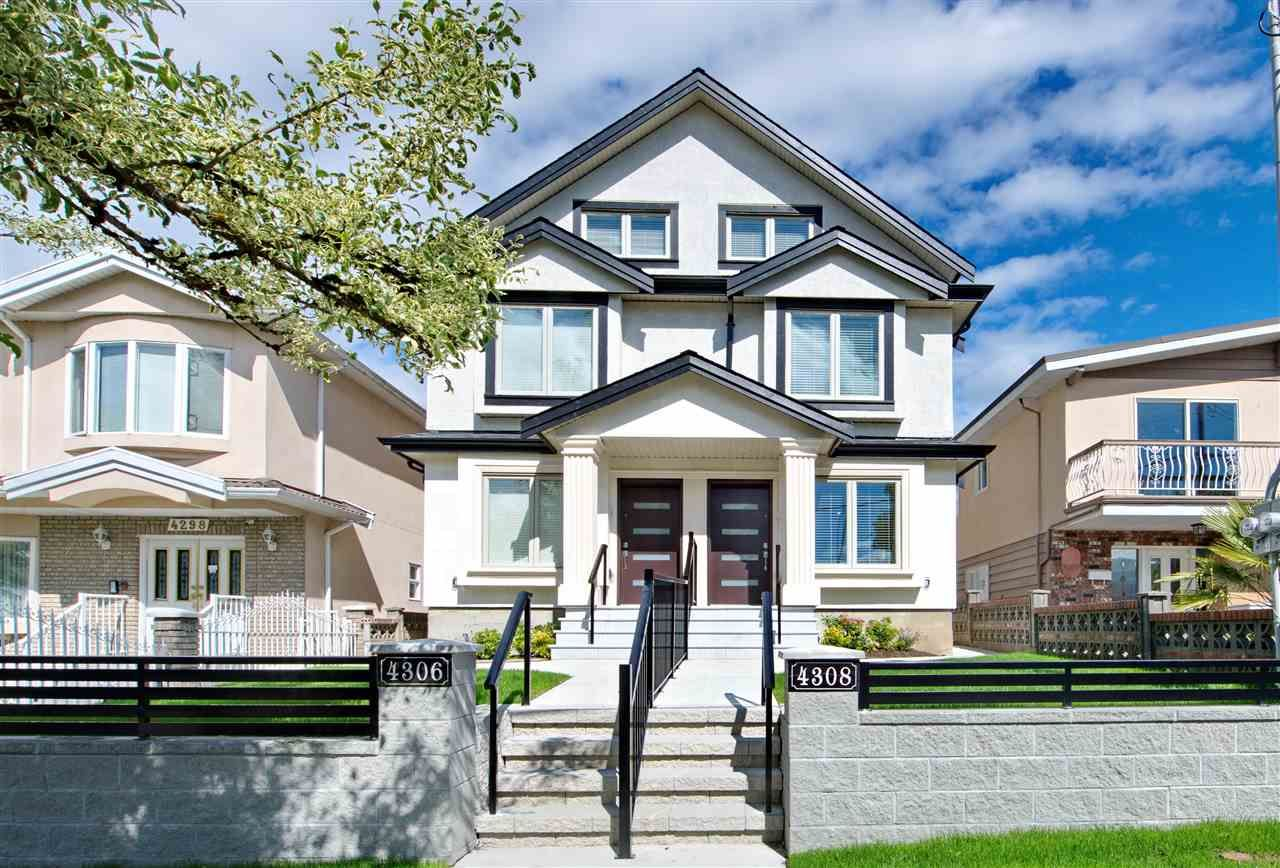 Main Photo: 4306 BEATRICE Street in Vancouver: Victoria VE 1/2 Duplex for sale (Vancouver East)  : MLS®# R2490381