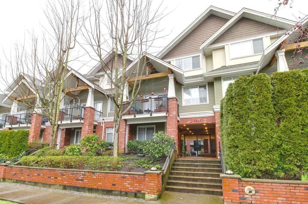 """Main Photo: 208 1567 GRANT Avenue in Port Coquitlam: Glenwood PQ Townhouse for sale in """"THE GRANT"""" : MLS®# R2251772"""