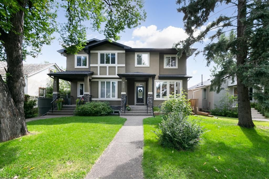 Main Photo: 907 23 Avenue NW in Calgary: Mount Pleasant Semi Detached for sale : MLS®# A1141510