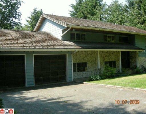 Main Photo: 17276 18TH Avenue in Surrey: Pacific Douglas House for sale (South Surrey White Rock)  : MLS®# F1000132