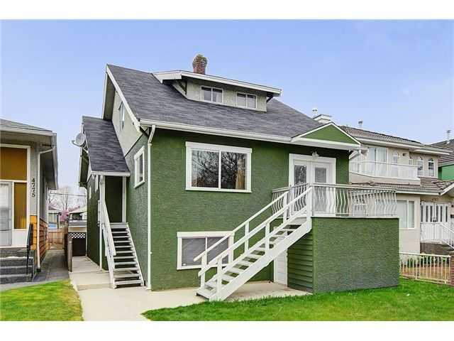 Photo 2: Photos: 4769 BRUCE ST in Vancouver: Victoria VE House for sale (Vancouver East)  : MLS®# V1000138
