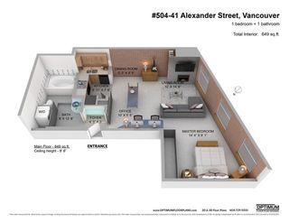 "Photo 18: 504 41 ALEXANDER Street in Vancouver: Downtown VE Condo for sale in ""CAPTAIN FRENCH"" (Vancouver East)  : MLS®# R2487373"