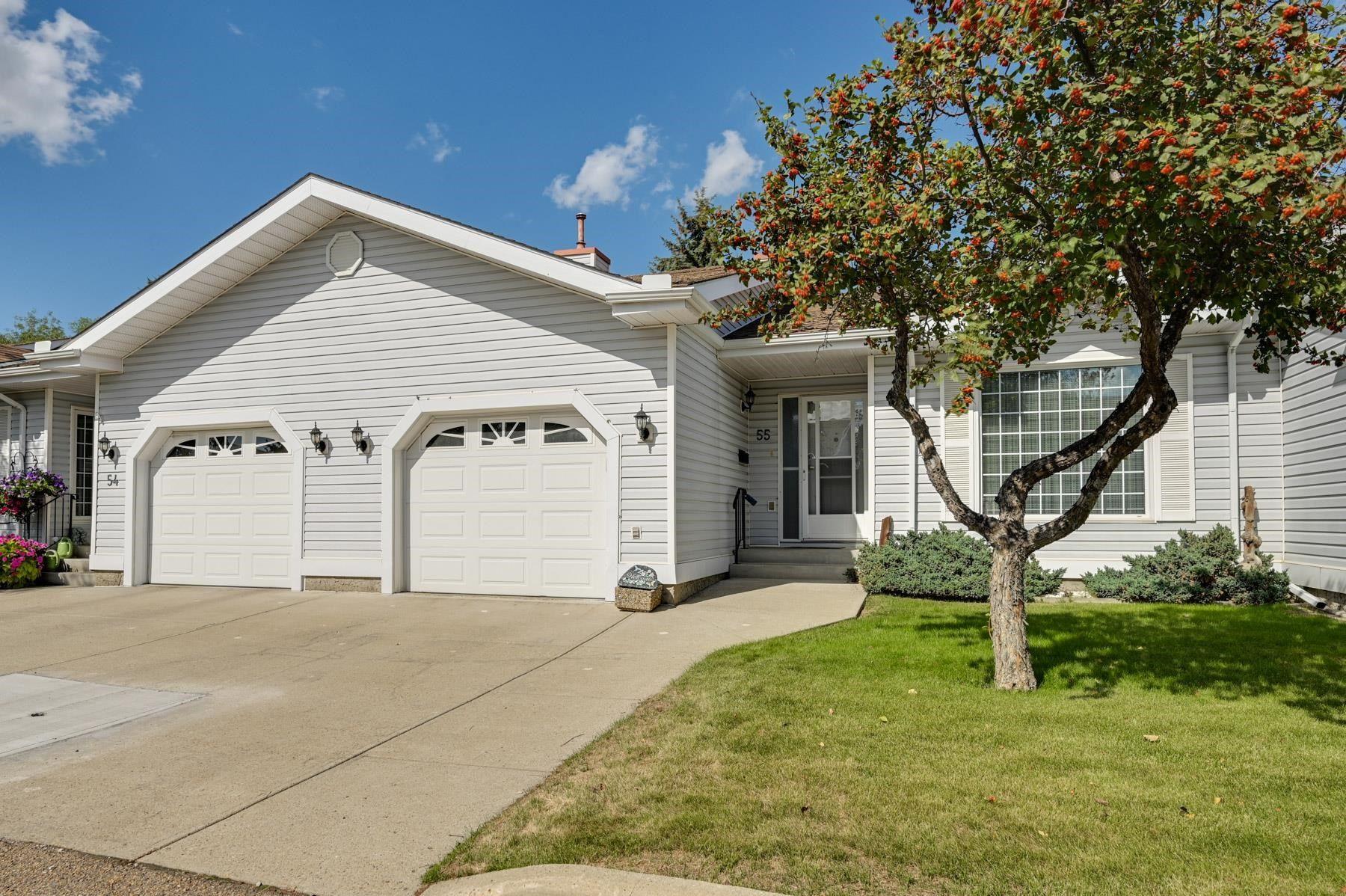 Main Photo: 55 9704 165 Street in Edmonton: Zone 22 House Half Duplex for sale : MLS®# E4260342
