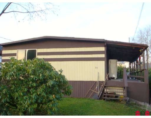"Main Photo: 73 9950 WILSON Street in Mission: Stave Falls Manufactured Home for sale in ""RUSKIN PLACE"" : MLS®# F2729674"