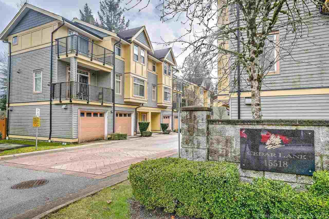 """Main Photo: 19 15518 103A Avenue in Surrey: Guildford Townhouse for sale in """"Cedar Lane"""" (North Surrey)  : MLS®# R2549208"""