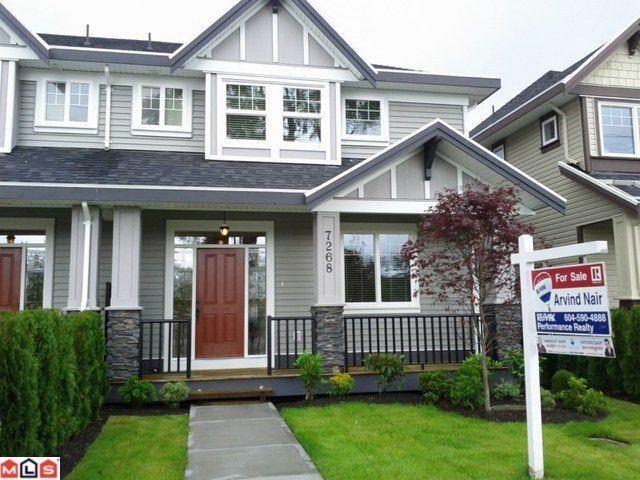 Main Photo: 7268 192ND Street in Surrey: Clayton 1/2 Duplex for sale (Cloverdale)  : MLS®# F1115176