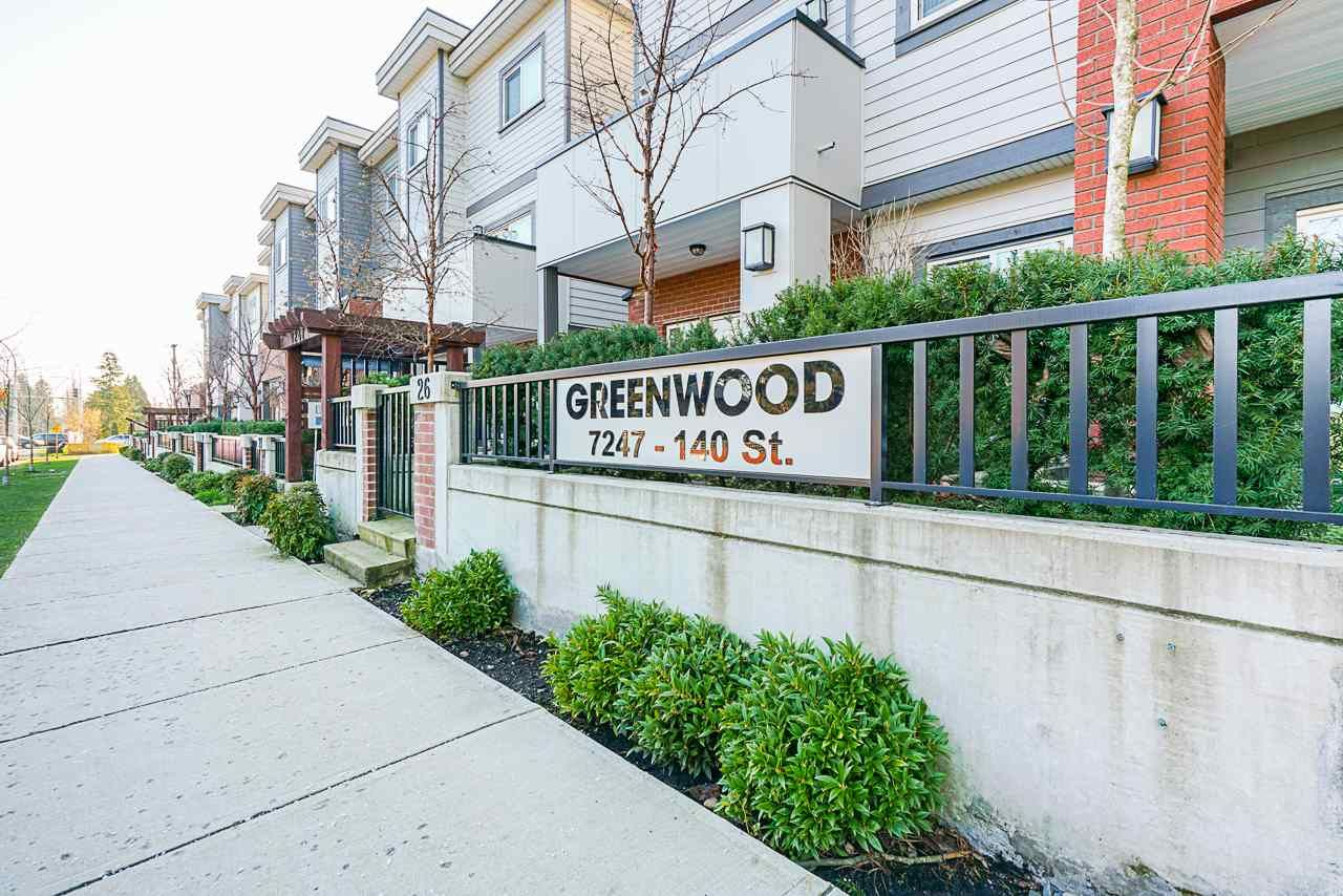 "Main Photo: 17 7247 140 Street in Surrey: East Newton Townhouse for sale in ""GREENWOOD"" : MLS®# R2532805"