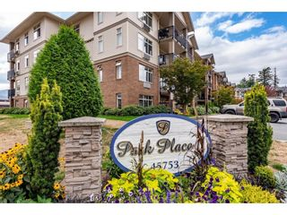 """Photo 1: 211 45753 STEVENSON Road in Chilliwack: Sardis East Vedder Rd Condo for sale in """"Park Place II"""" (Sardis)  : MLS®# R2613313"""