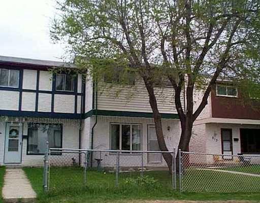 Main Photo: 217 LE MAIRE Street in Winnipeg: Fort Garry / Whyte Ridge / St Norbert Townhouse for sale (South Winnipeg)  : MLS®# 2507329