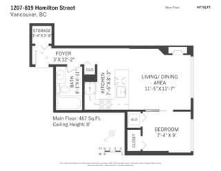 """Photo 8: 1207 819 HAMILTON Street in Vancouver: Downtown VW Condo for sale in """"819"""" (Vancouver West)  : MLS®# R2587770"""