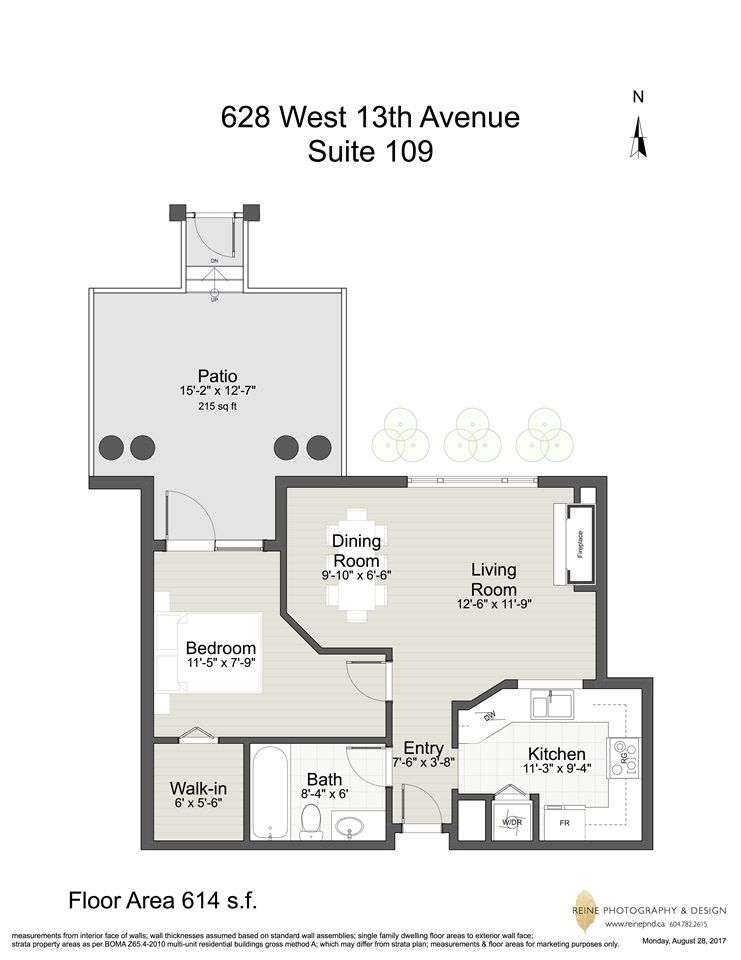 Photo 19: Photos: 109 628 W 13TH AVENUE in Vancouver: Fairview VW Condo for sale (Vancouver West)  : MLS®# R2205140