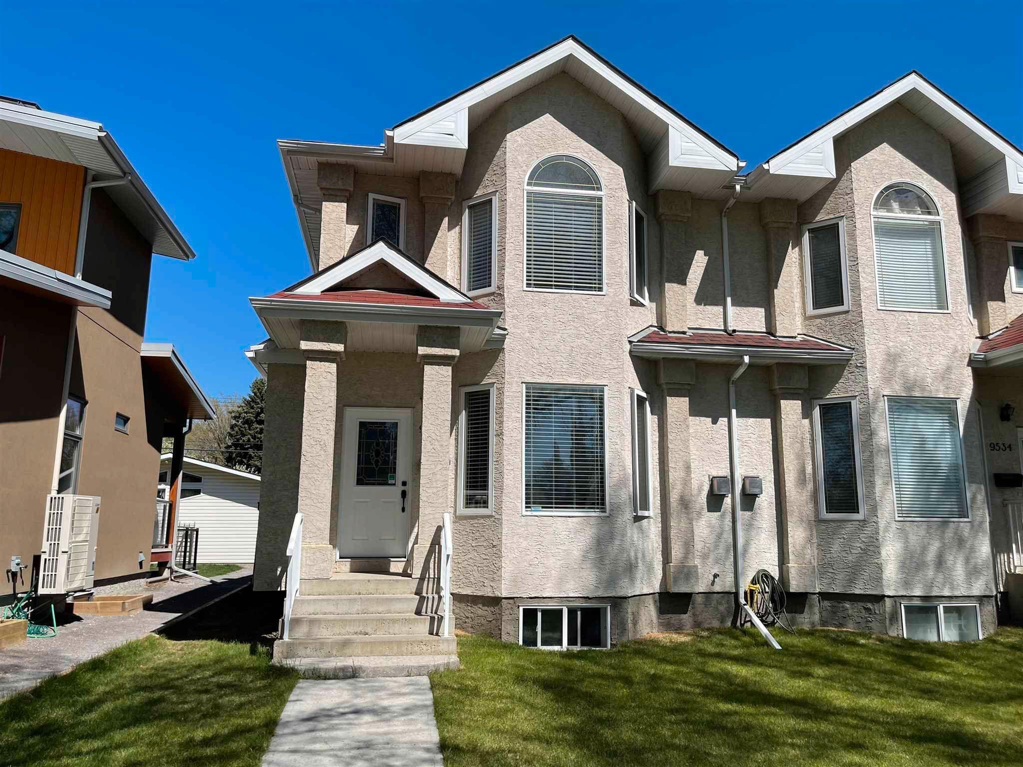 Main Photo: 9536 70 Avenue in Edmonton: Zone 17 House Half Duplex for sale : MLS®# E4245659