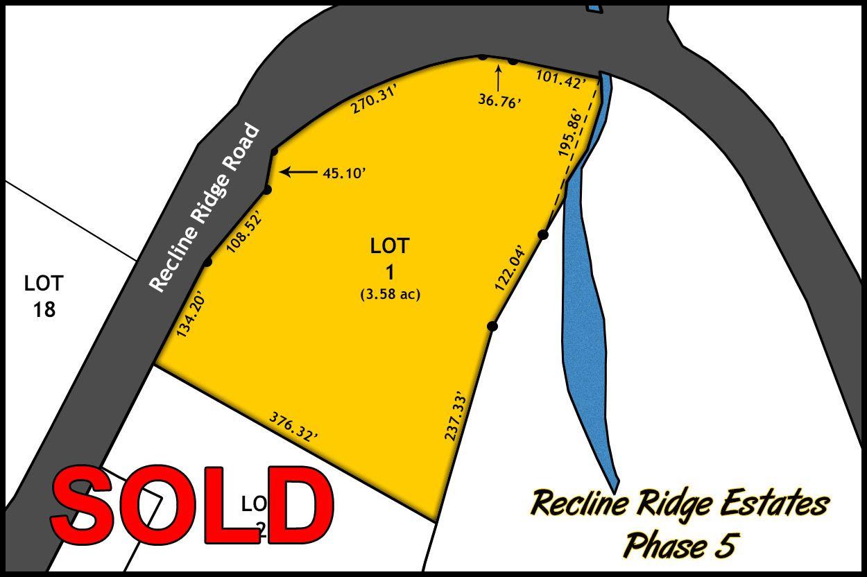 Recline Ridge Estates - Phase V - Lot 1