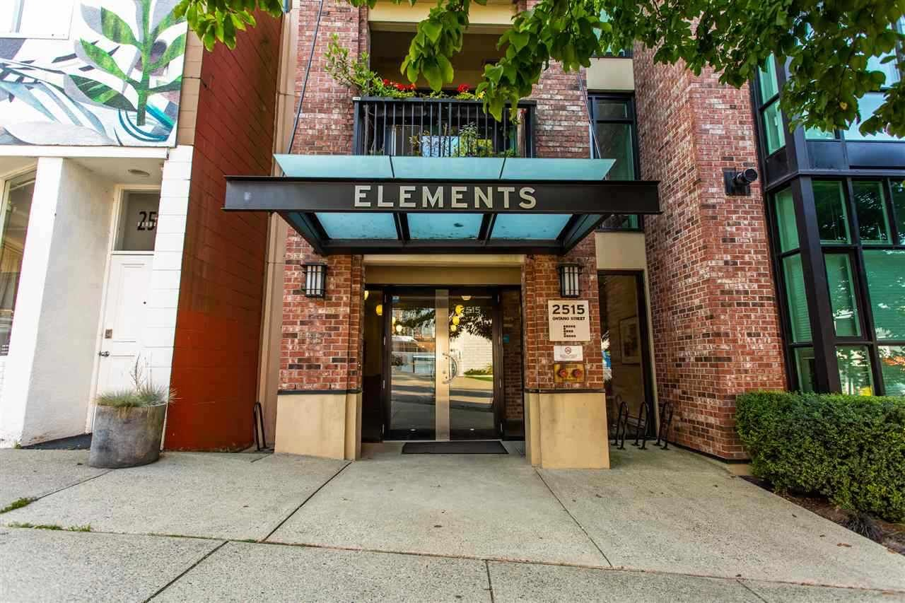 "Main Photo: 407 2515 ONTARIO Street in Vancouver: Mount Pleasant VW Condo for sale in ""ELEMENTS"" (Vancouver West)  : MLS®# R2528697"