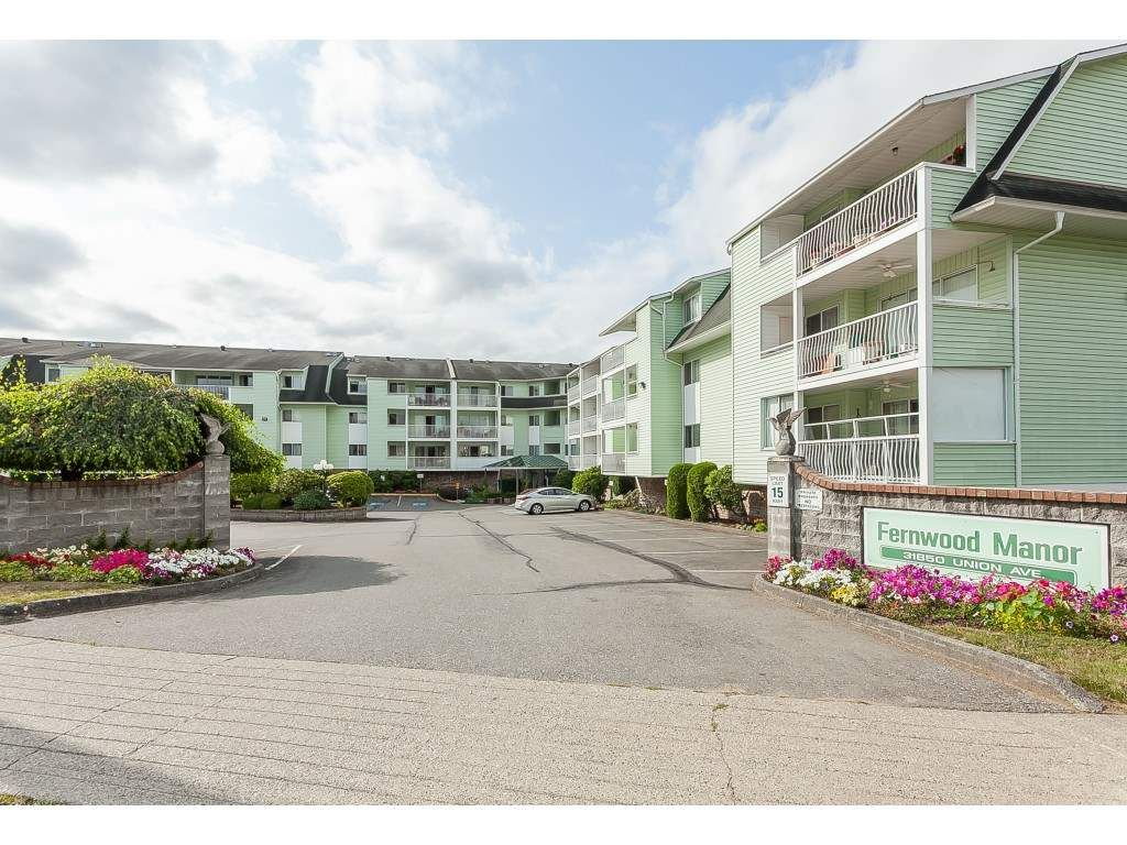 """Main Photo: 206 31850 UNION Avenue in Abbotsford: Abbotsford West Condo for sale in """"Fernwood Manor"""" : MLS®# R2392804"""