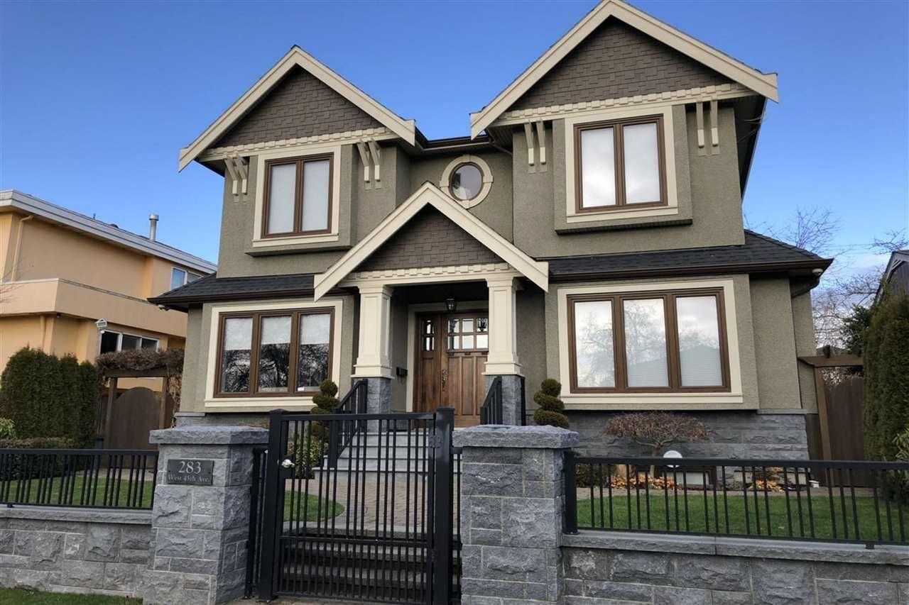 Photo 1: Photos: 283 W 45TH Avenue in Vancouver: Oakridge VW House for sale (Vancouver West)  : MLS®# R2367284