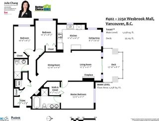 Photo 20: 402 2250 WESBROOK Mall in Vancouver: University VW Condo for sale (Vancouver West)  : MLS®# R2534865