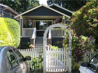 Photo 1: 2078 W KEITH RD in North Vancouver: Pemberton Heights House for sale : MLS®# V1073488